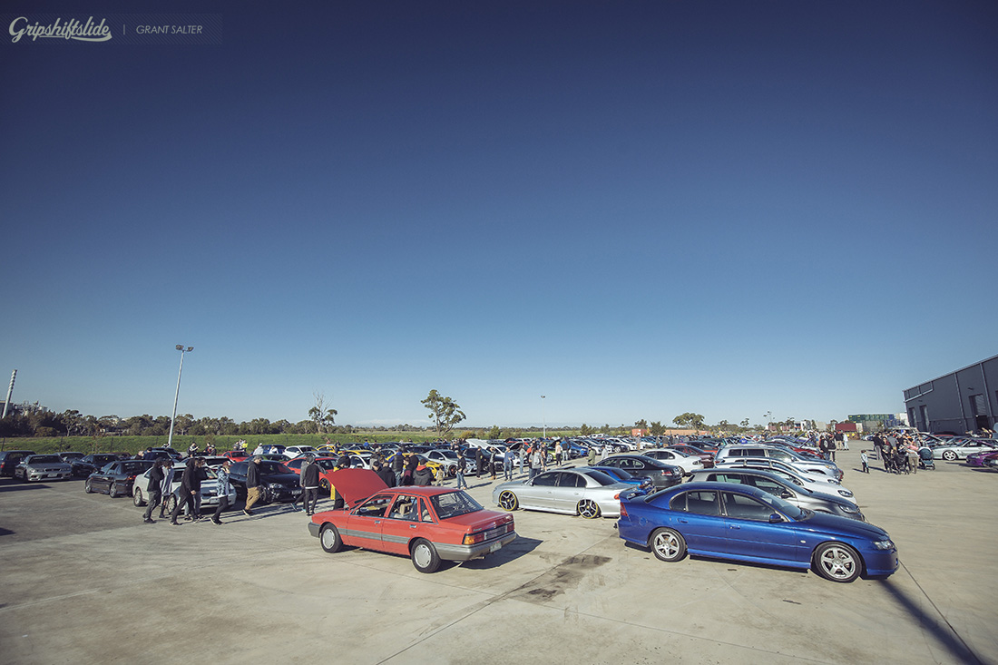 cars and coffee carpark