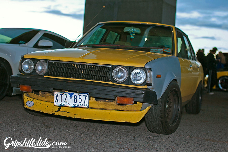 Yellow ke70 with quad headlights