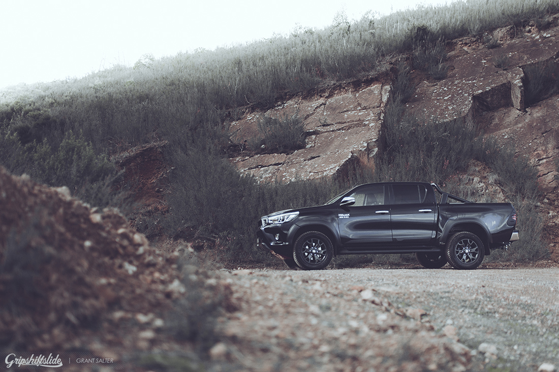 large rocks and the toyota hilux trd