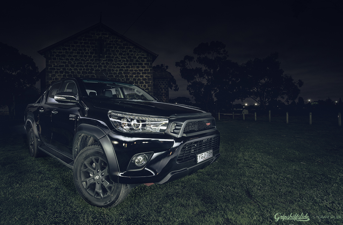 dark night with the hilux