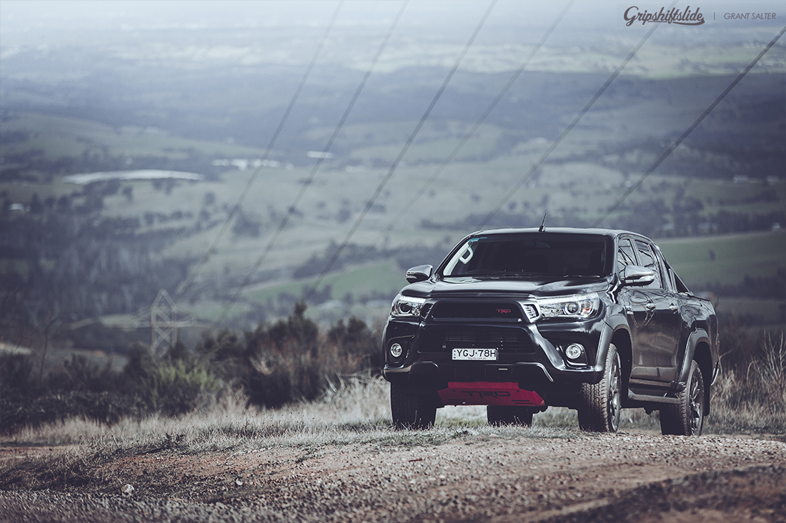 sports pack trd hilux on mountain